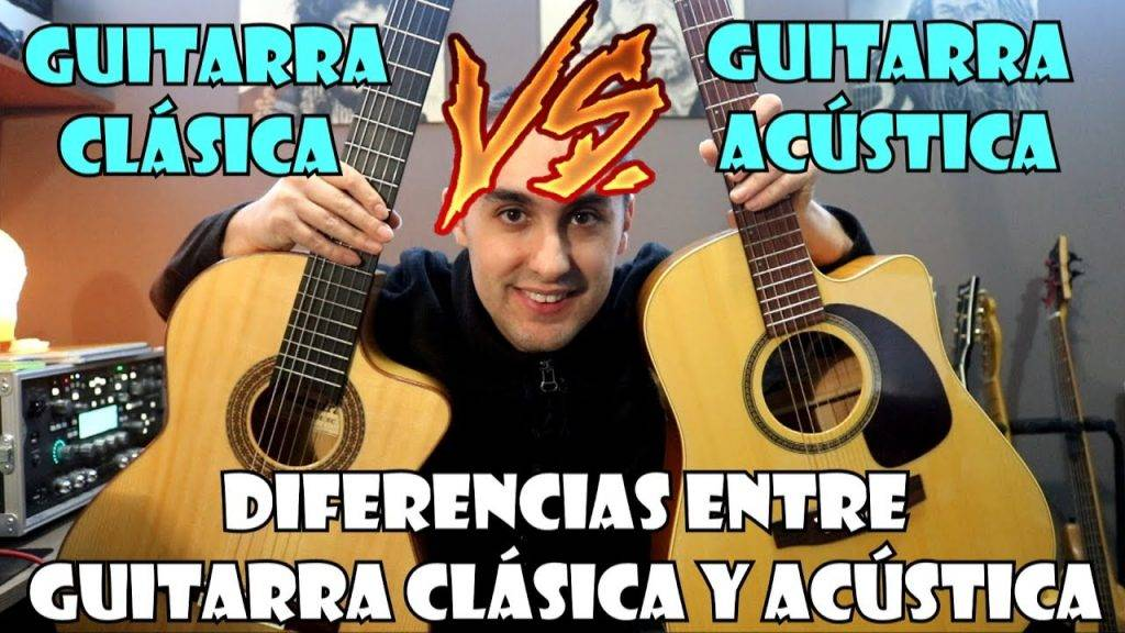 ¿Cuáles son las DIFERENCIAS Entre GUITARRA CLÁSICA Y GUITARRA ACÚSTICA?