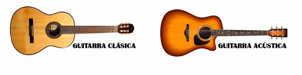 Guitarra acústica VS guitarra clásica