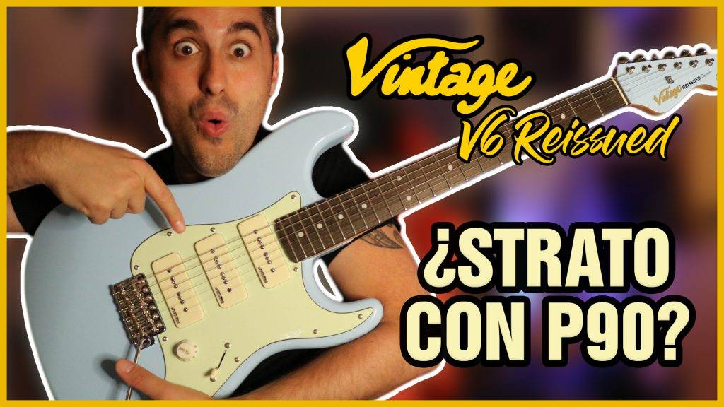 ¿Una STRATOCASTER con pastillas GIBSON? 🎸 Vintage V6 Reissued review