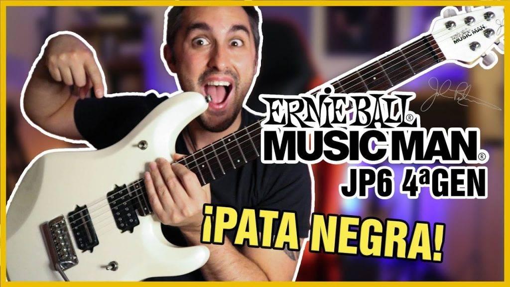 PATA NEGRA DE GUITARRA 🎸 Ernie Ball Musicman JP6 Arctic White