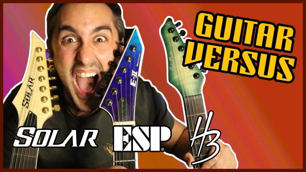 Comparativa de Guitarras para METAL 🎸 Harley Benton VS Solar VS ESP